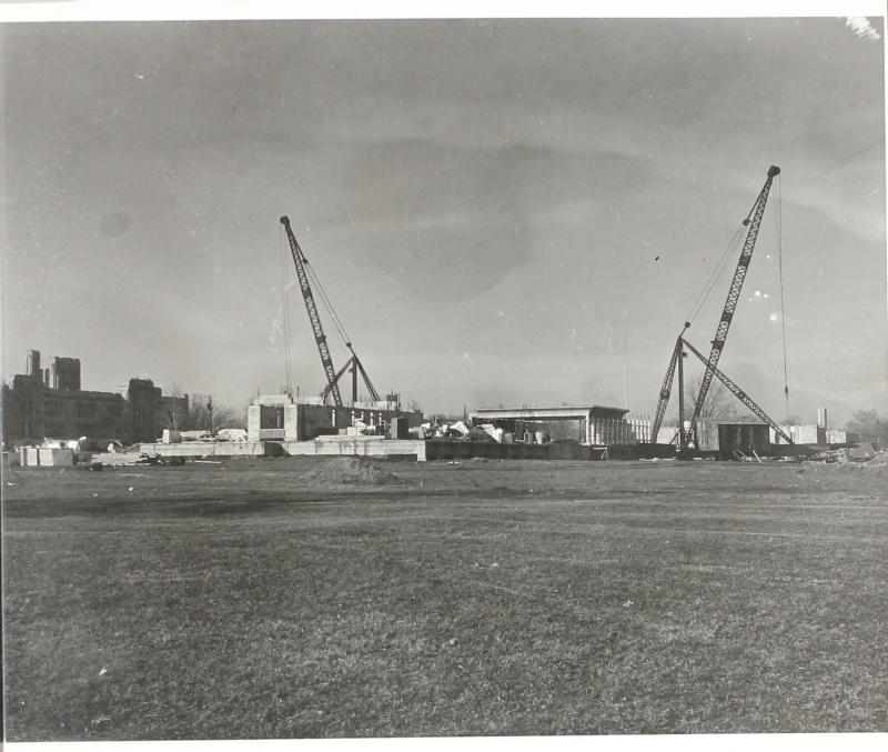 Irwin Library at Butler University while Under Construction