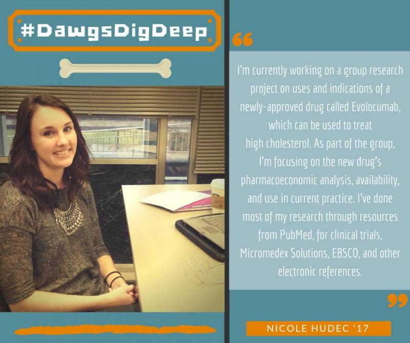 Nicole Hudec '17 for #DawgsDigDeep