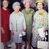Elsie Irwin Sweeney and Other Guests at the Dedication of the Irwin Library at Butler University