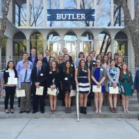 Phi Beta Kappa After Their Ceremony at Irwin