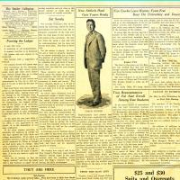 A 1926 photograph and article about Tony Hinkle and the Butler University football team in the <em>Butler Collegian</em>