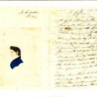 Letters between Ovid Butler and Cordelia Cole and a lock of her hair
