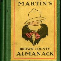 Photograph of the front cover of <em>Abe Martin's Brown County Almanack</em>