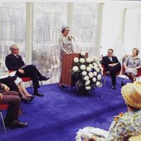 Clementine Tangeman Speaking at the Dedication Ceremony for the Irwin Library at Butler University