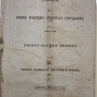 The 1850 Indiana State charter for North Western Christian University