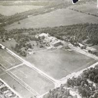 Aerial View of the First Building on Fairview Campus at Butler University in 1927
