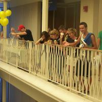 Students Participate in the Duck Drop
